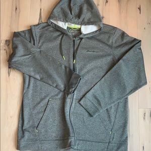 Men's Eddie Bauer grey zip up hoodie TXL